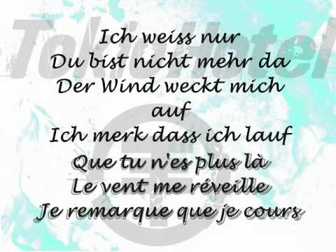 Lass uns Laufen - Tokio Hotel Lyrics + french translation