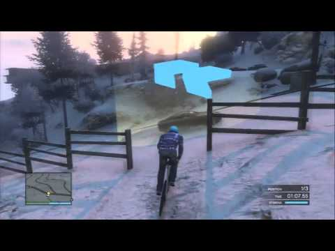 GTA 5 - Race Won #97 - With Bicycles In The Snow