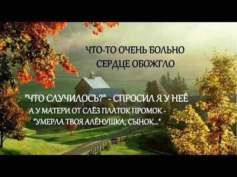 Виктор Петлюра - Алёнушка - Текст // Sad Russian Song by Viktor Petlyura