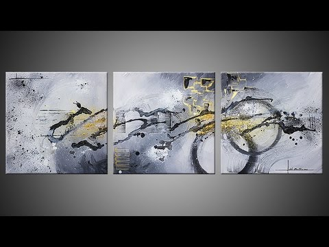 Abstract acrylic painting demo video - Réalisation d'un tableau - Ulex Minor by John Beckley