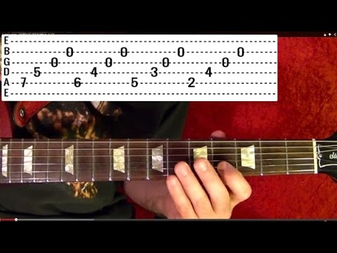EASY! METALLICA - THE UNFORGIVEN 3 - Intro Guitar Lesson With TABS