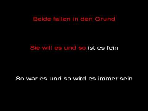 Rammstein - Rosenrot (instrumental with lyrics)