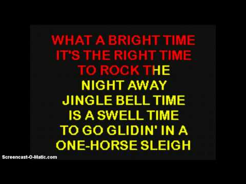JINGLE BELL ROCK - BOBBY HELMS - Karaoke