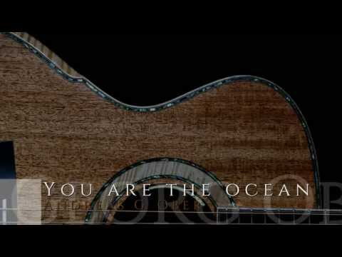 """You are the ocean"" acoustic guitar original / maestro singa steel string"