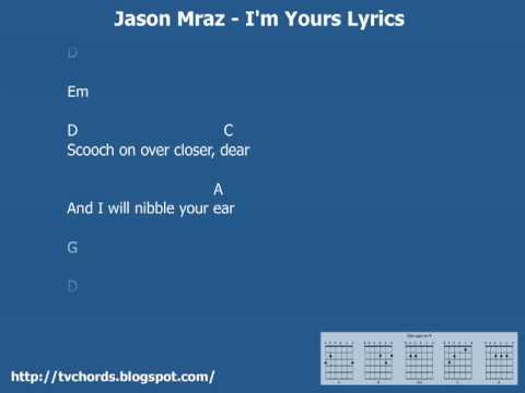 Jason Mraz - I'm yours - Guitar chords and lyrics