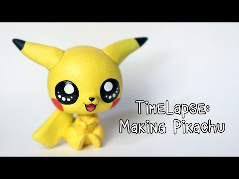 Timelapse: Sculpting and painting Pikachu (LPS custom)