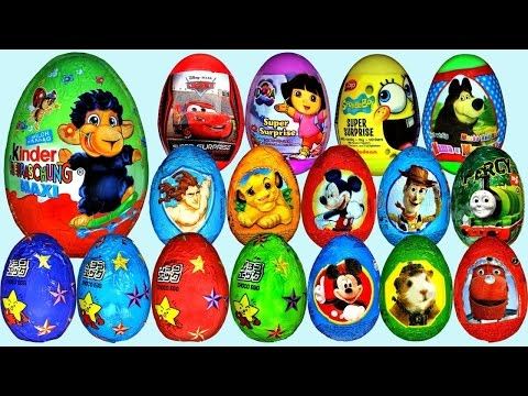 15 Surprise Eggs - SURPRISE EGGS TOYS Basket Ball Barbie collection Thomas and friends The Tank ???