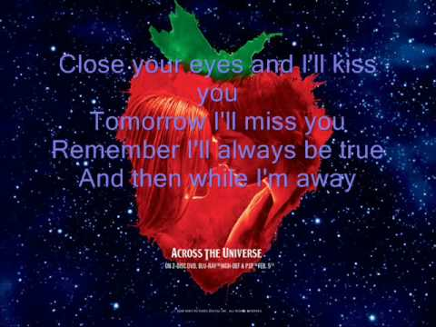 All My Loving - Jim Sturgess {Lyrics}