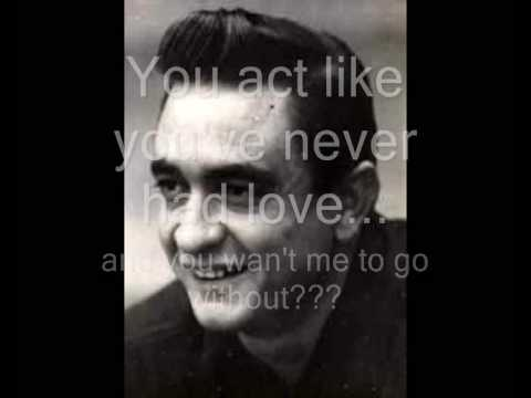Johnny Cash - One (U2 Cover - With Lyrics)