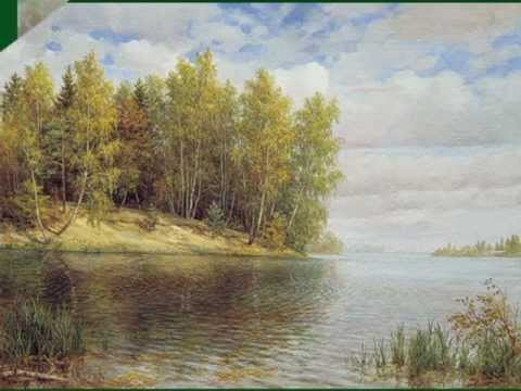Бежит река - Наталия Муравьева Paintings by Russian artists ages 17-19 River flows Песня о любви 60