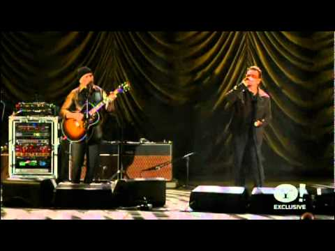 U2News - A Man And A Woman - Bono & Edge - A Decade of Difference Concert